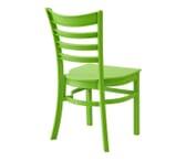 Lime Ladderback Indoor/Outdoor Restaurant Chair
