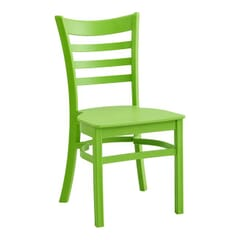 Lime Ladderback Indoor/Outdoor Restaurant Chair