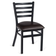 Black Steel Ladderback Restaurant Chair