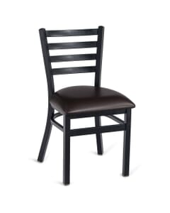Black Steel Ladderback Restaurant Chair