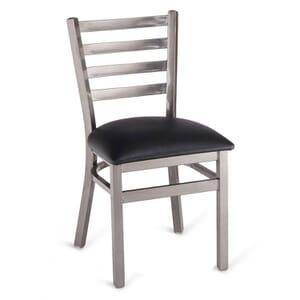 Clear Coat Distressed Finish Steel Ladderback Restaurant Chair