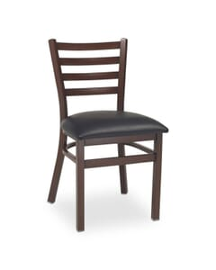 Dark Mahogany Steel Ladderback Restaurant Chair