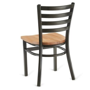 Gold-Vein Steel Ladderback Restaurant Chair