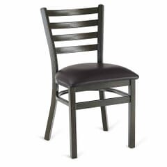Gold Vein Steel Ladderback Restaurant Chair