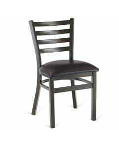 Gold Vein Steel Ladderback Restaurant Chair
