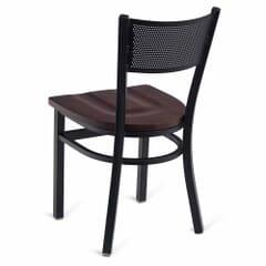 Black Steel Mesh Back Restaurant Chair