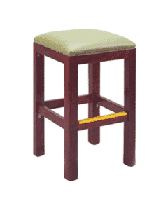 Square Backless Bar Stool with Square Seat in Dark Mahogany
