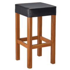 Morgan Restaurant Backless Bar Stool in Cherry with Upholstered Seat