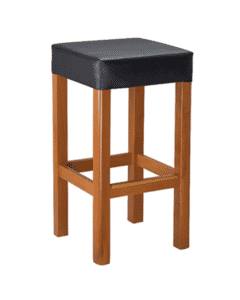 Square Backless Bar Stool with Square Seat in Cherry