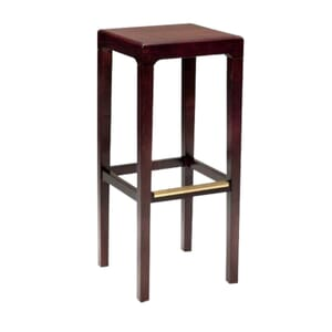 Wooden Backless Bar Stool with Square Seat