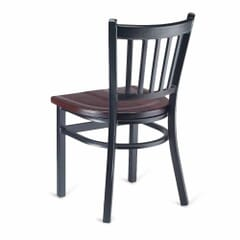 Black Metal Vertical-Back Commercial Chair