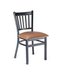 Black Metal Vertical-Back Commercial Chair