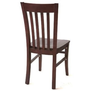 Walnut Curved Back Commercial Chair