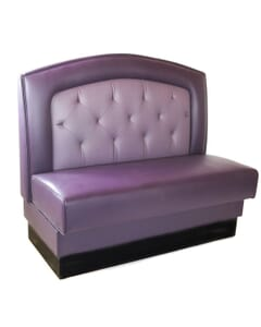 Fan Back Style Tufted Restaurant Booth