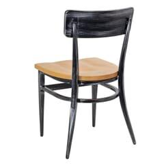 Antique Gray Industrial Steel Frame Restaurant Chair