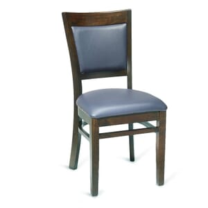 Walnut Wood Finish Easton Commercial Chair with Upholstered Seat & Back