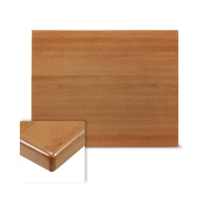 Rectangular Solid Beech Wood Table Top in Cherry