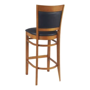 Cherry Wood Finish Easton Commercial Bar Stool with Upholstered Seat & Back