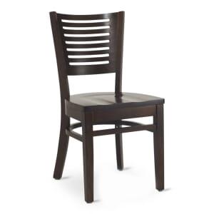 Narrow-Slat Back Commercial Wood Chair