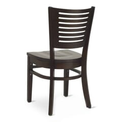 Walnut Narrow-Slat Back Commercial Wood Chair