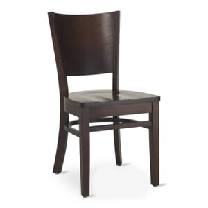 Walnut Wood Contempo Commercial Chair with Saddle Seat (Front)