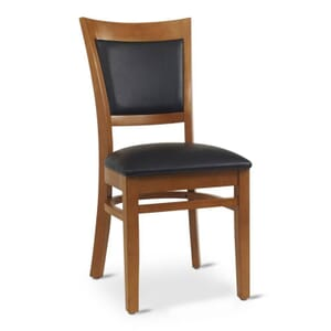 Cherry Wood Finish Easton Commercial Chair with Upholstered Seat & Back (Front)