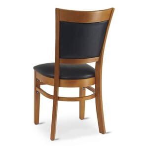 Cherry Wood Finish Easton Commercial Chair with Upholstered Seat & Back