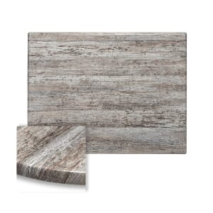 Rectangular Werzalit Wood Composite Outdoor Dining Table Top in Reclaimed Wood