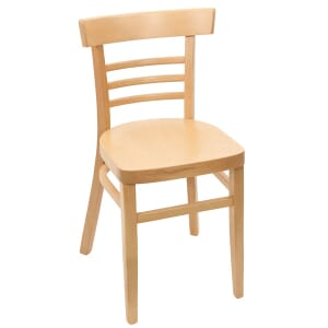 Natural Wood Eco-Ladderback Commercial Side Chair with Veneer Seat