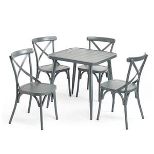 Aluminum Restaurant Table in Gunmetal Grey
