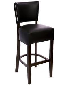 Fully Upholstered Deluxe Nailhead Trim Dining Bar Stool