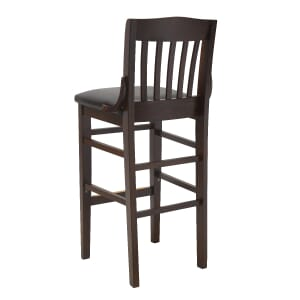Solid Wood Schoolhouse Restaurant Dining Bar Stool in Walnut