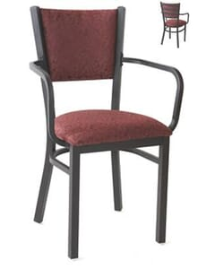 Fully Upholstered Stackable Metal Chair (side)