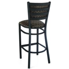 Fully Upholstered Metal Bar Stool