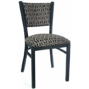 Fully Upholstered Metal Chair