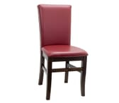 Fully Upholstered Walnut Wood Stella Restaurant Chair (Front)