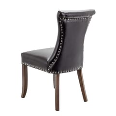Fully Upholstered Padded Vinyl Regal Commercial Dining Chair with Nailhead Trim on Hour-glass Back