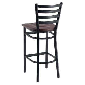 Black Steel Ladderback Restaurant Bar Stool