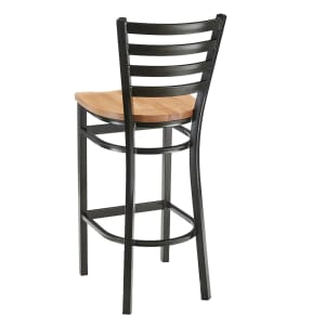 Gold Vein Steel Ladderback Restaurant Bar Stool