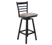 Black Steel Swivel Ladderback Restaurant Bar stool