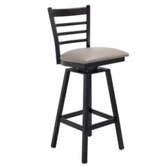 Black Steel Swivel Ladderback Restaurant Bar stool
