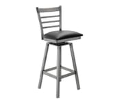 Distressed Clear Swivel Ladderback Restaurant Bar Stool