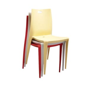 Red Icelandia Commercial Outdoor Patio Chair