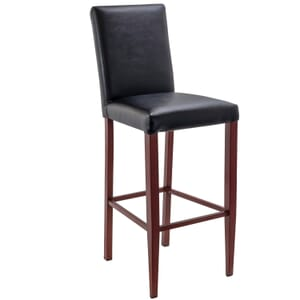 Fully Upholstered Mahogany Metal Commercial Bar Stool (Front)