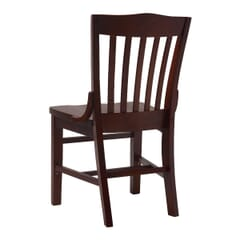 Solid Wood Schoolhouse Restaurant Dining Chair in Mahogany