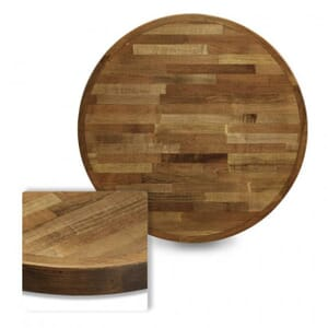 Butcher Block Mixed Wood Indoor Round Dining Table Top in Urban Maple Finish (30