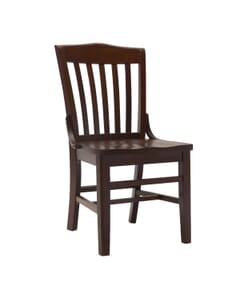 Solid wood seat - front view