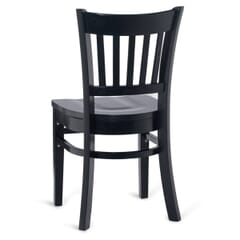 Black Wood Vertical-Back Commercial Chair