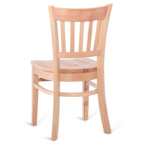 Natural Wood Vertical-Back Commercial Chair