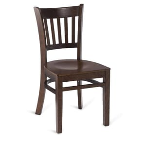 Walnut Wood Vertical-Back Commercial Chair